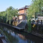 小野川沿いの町並み