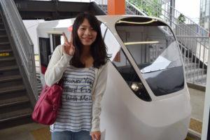 運転できるミニ電車
