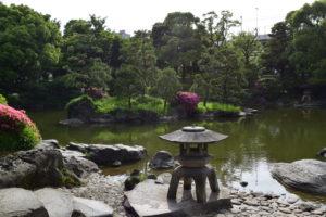 旧安田庭園池