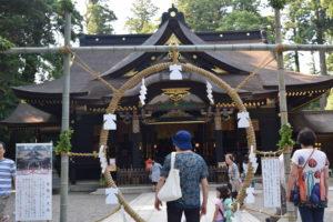 香取神宮本殿茅の輪くぐり