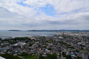 館山城天守からの景色