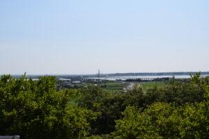 鹿島城跡からの景色