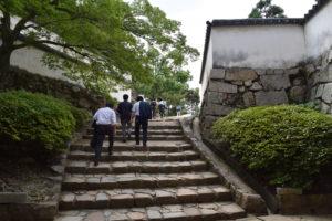 岡山城石段