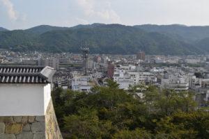 津山城天守台からの眺望