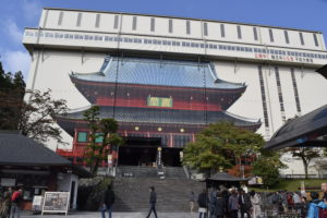 改修中の輪王寺