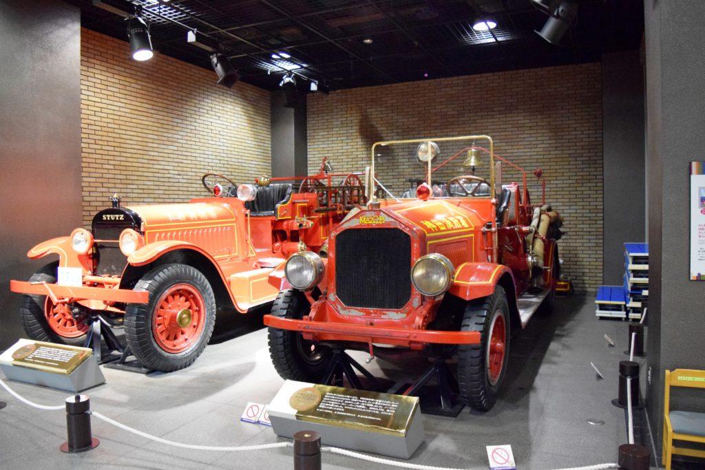 レトロな消防車