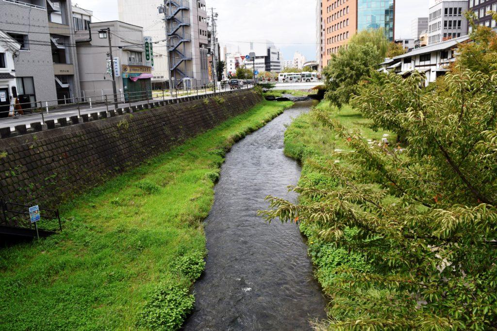 隣を流れる川