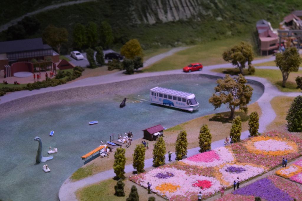 山中湖の水陸両用バス