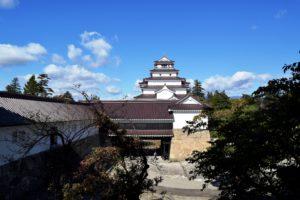 干飯櫓から見る会津若松城