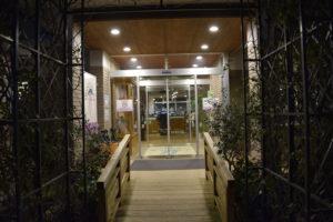 足利フラワーパークのレストラン入口