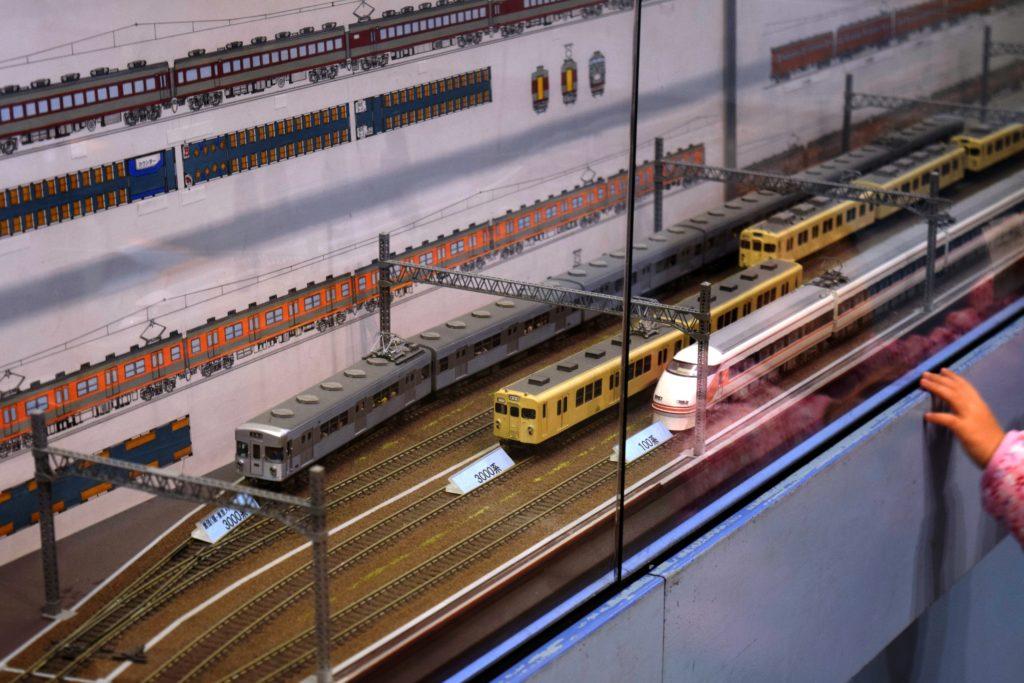 東武で活躍した車両の模型