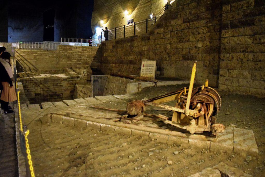 採石に使われた道具