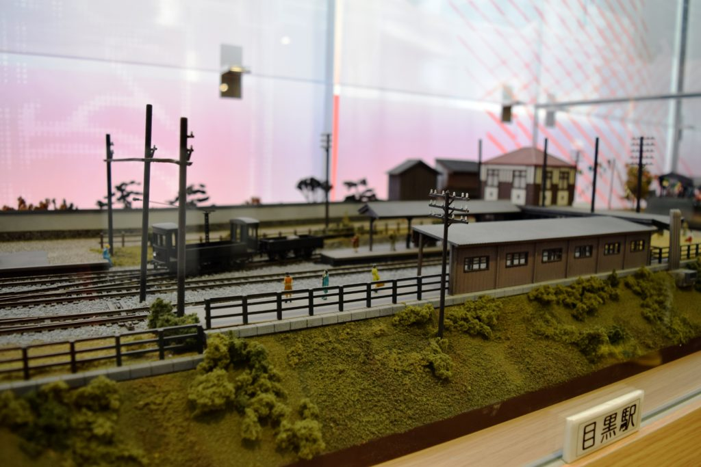 旧目黒駅の模型