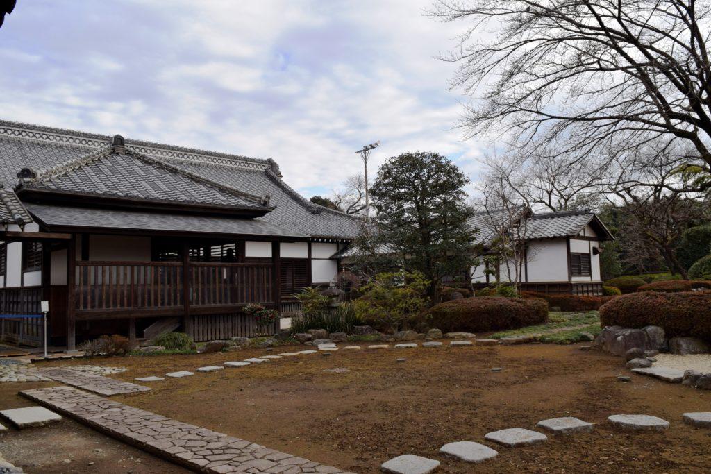 川越城本丸御殿の中庭